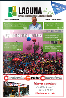 Portada de la tercera edición de la revista Laguna al día