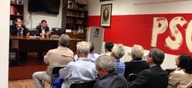 Luis Tudanca presenta su oferta a los socialistas de Laguna