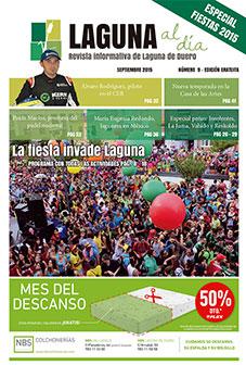 Portada de la novena edición de la revista Laguna al día