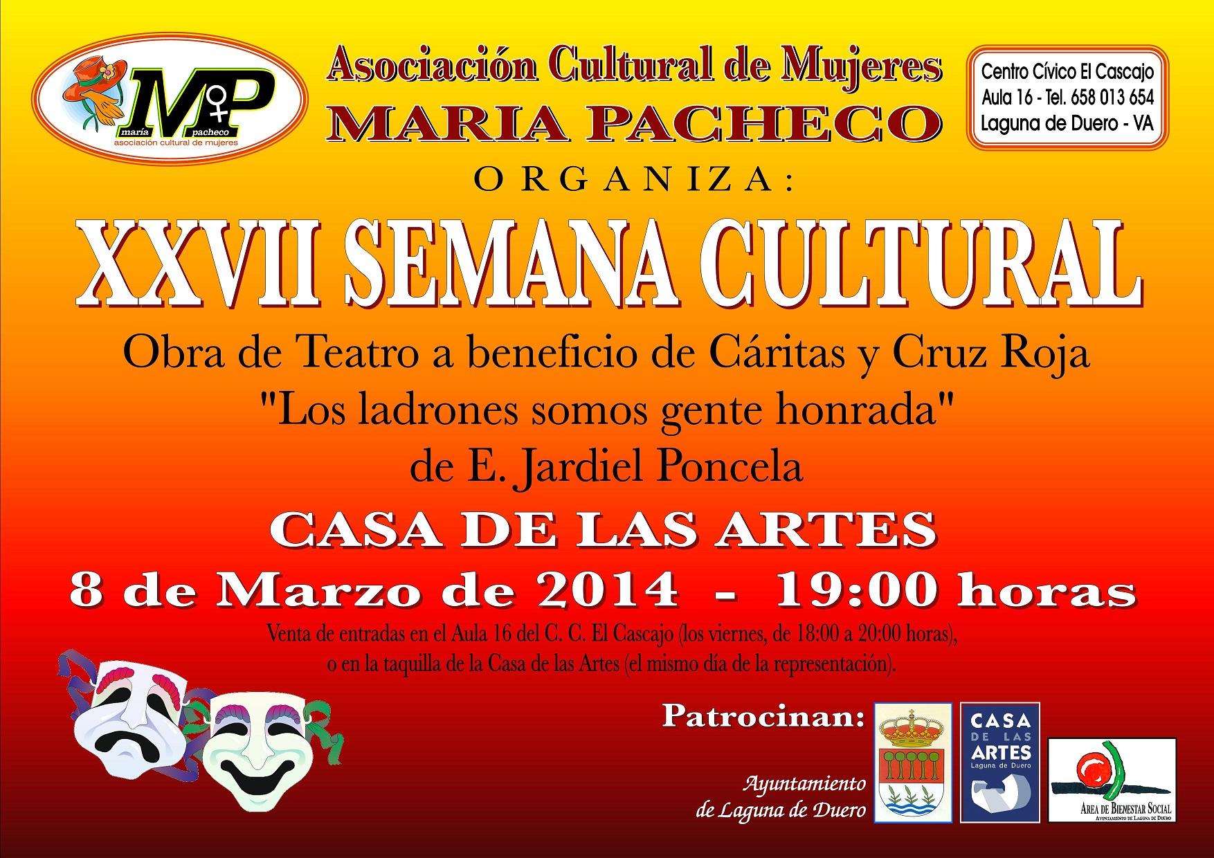 La Asociación María Pacheco arranca el sábado su XXVII Semana Cultural con un manifiesto sobre el Día Internacional de la Mujer trabajadora.