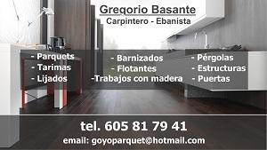 GREGORIO BASANTE - CARPINTERO/EBANISTA