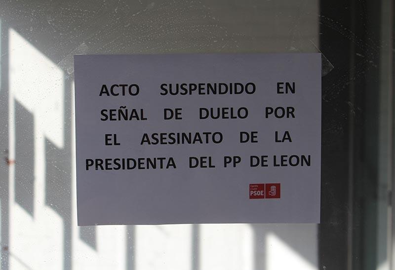 Suspendido el acto electoral del PSOE en Laguna tras el asesinato de Isabel Carrasco