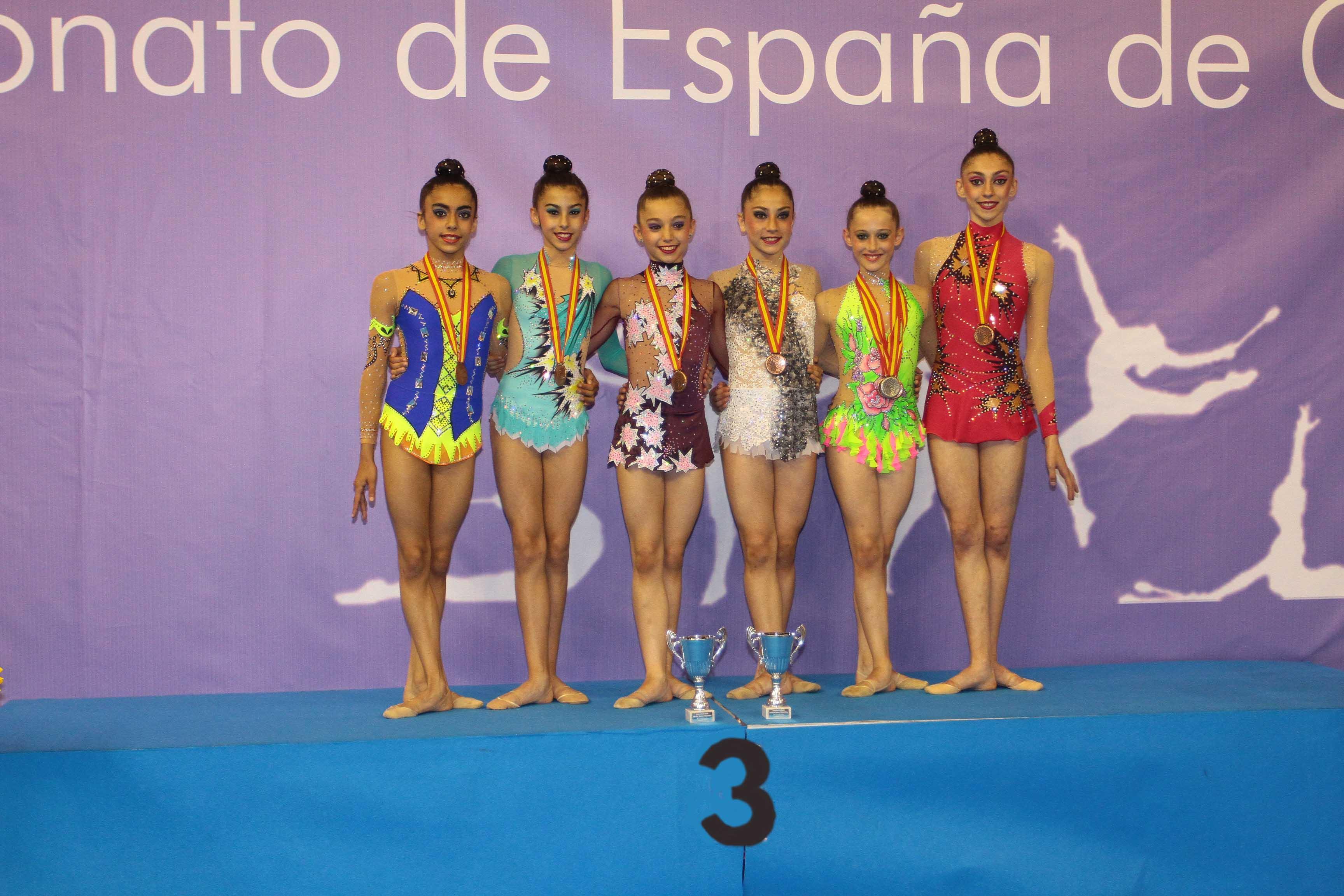 Lucía Redondo y Minerva Vega , bronce en los Campeonatos de España de Gimnasia  Rítmica por Comunidades Autónomas