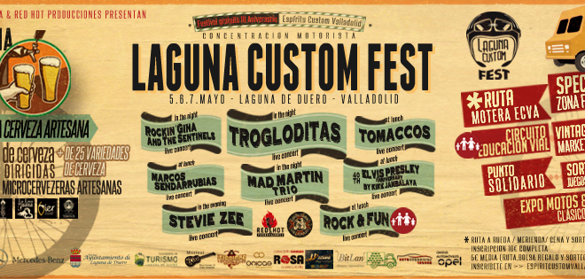 El Laguna Custom Fest llenará Laguna de ambiente, motos y rock and roll