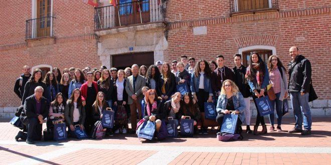 40 alumnos de Vierzon (Francia) visitan Laguna de Duero