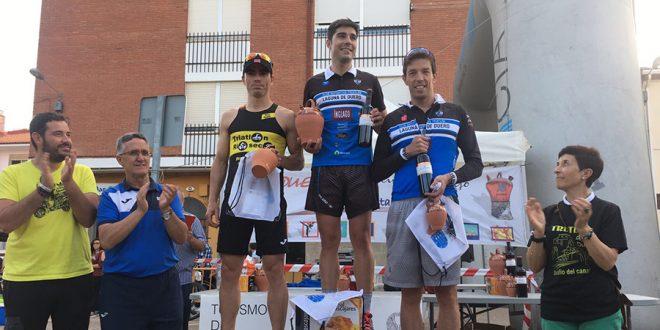 Inés Rodríguez y César Mato, ganadores del Triatlón Cross de Dueñas