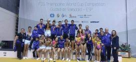 Siete medallas para los gimnastas laguneros en el nacional de Trampolín