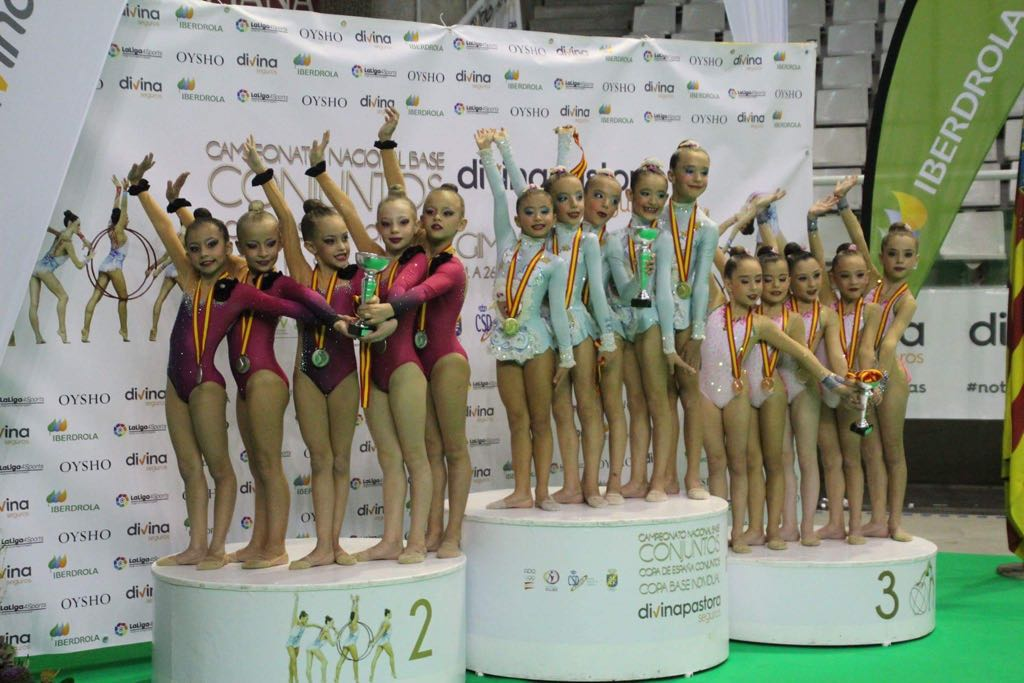 Julia López y Mónica Vázquez, subcampeonas de España de gimnasia rítmica