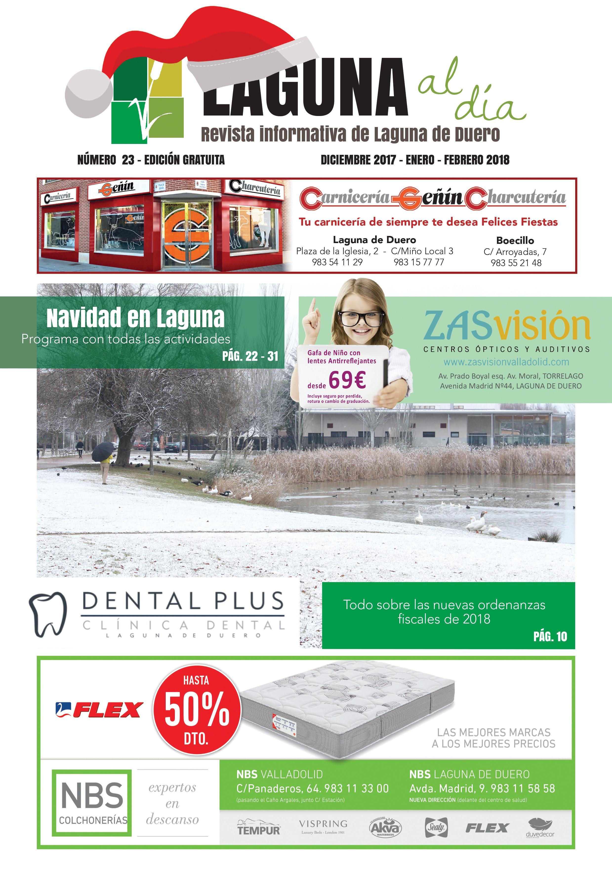 Portada de la vigésimotercera edición de la revista Laguna al día