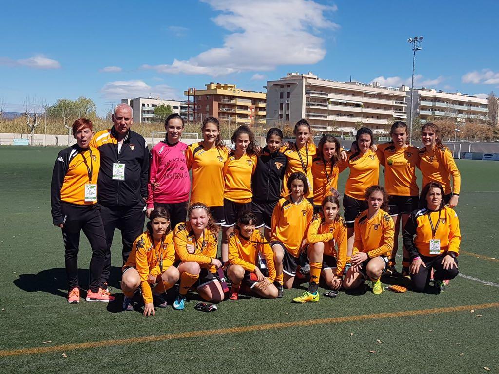 El infantil femenino del Atlético Laguna, primer equipo español en la Marenostrum de Tarragona