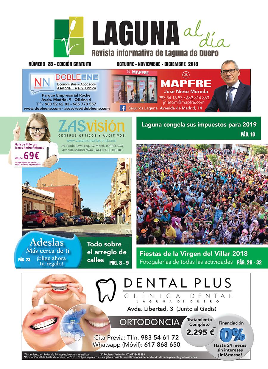 Portada de la vigésimoctava edición de la revista Laguna al Día