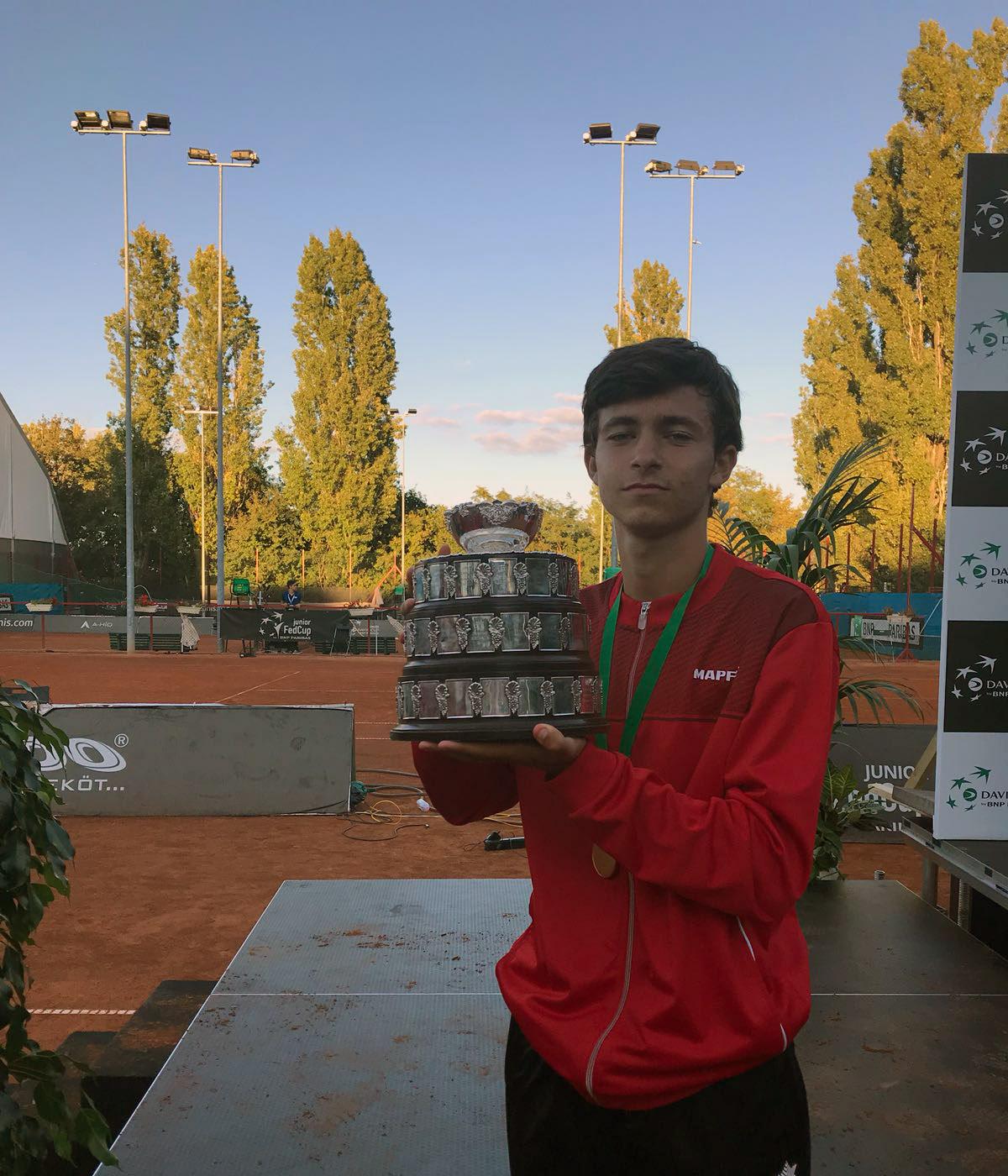 Mario González, campeón de la Copa Davis Junior sub-16 con España