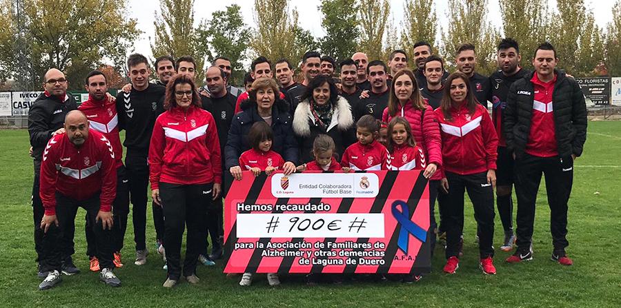AFALA recibe 900 euros gracias a la campaña 'Lagunízate' del C.D. Laguna