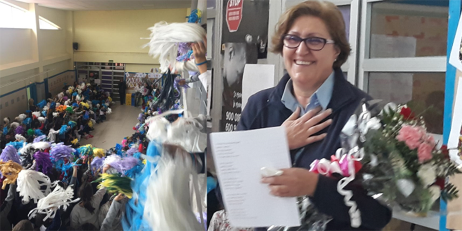 El CEIP Ntra. Sra. del Villar dice adiós a su conserje después de 27 años de servicio