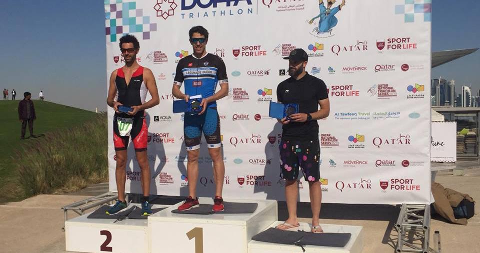 El C.D. Triatlón Laguna de Duero se sube al podio del 'Doha Triathlon'