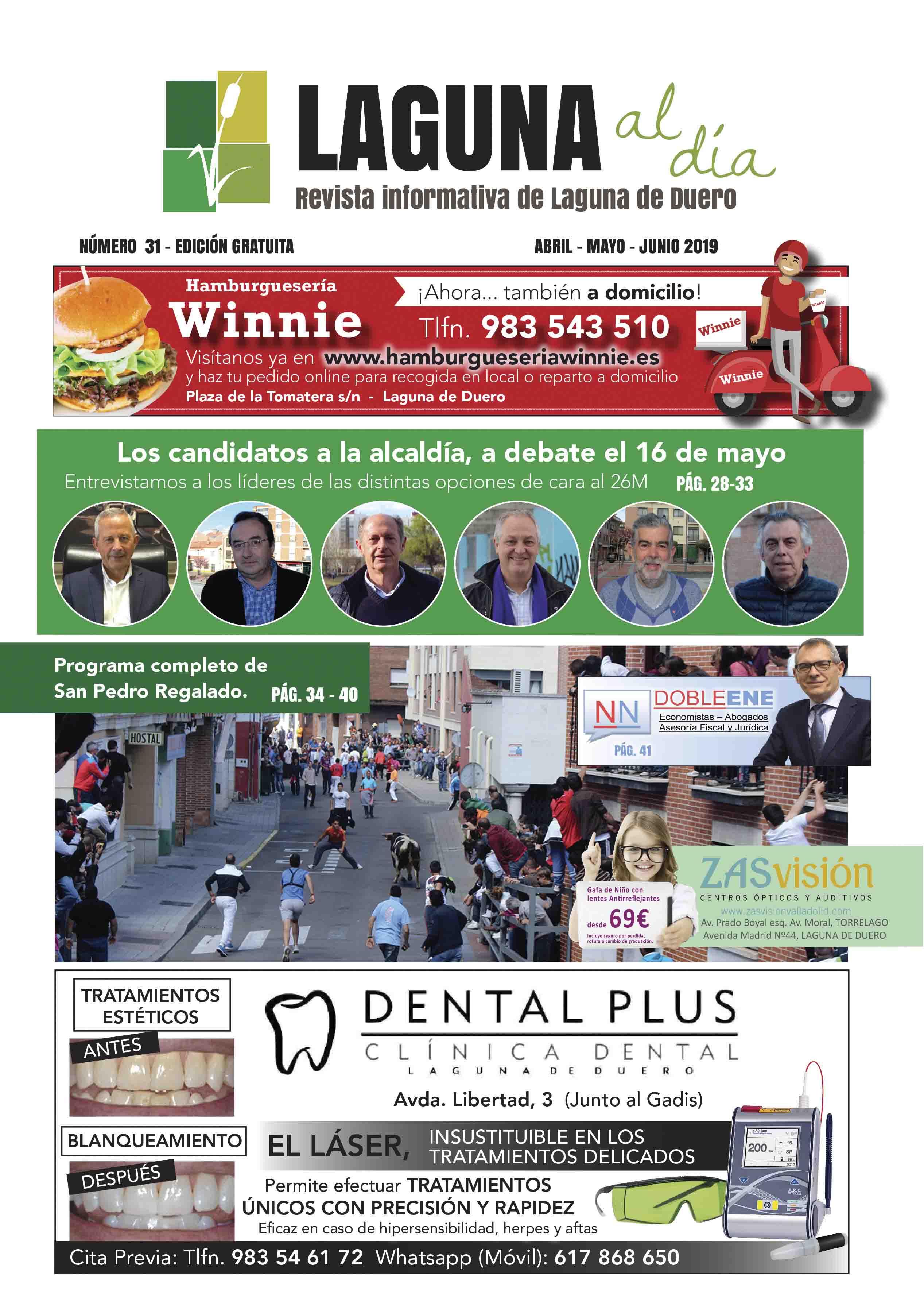 Portada de la trigésimo primera edición de la revista Laguna al Día