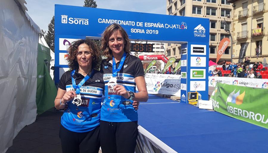 El C.D. Triatlón Laguna de Duero logra dos medallas en el Campeonato de Duatlón GGEE