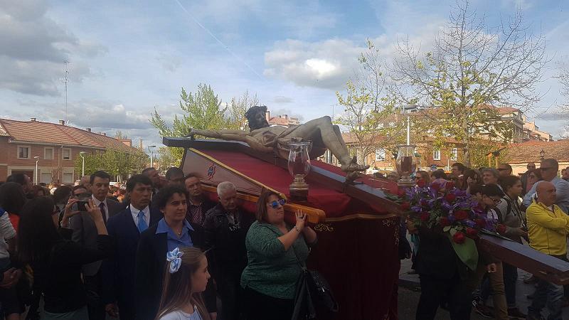 La procesión del Santo Cristo de los Trabajos da inicio a la Semana Santa de Laguna de Duero