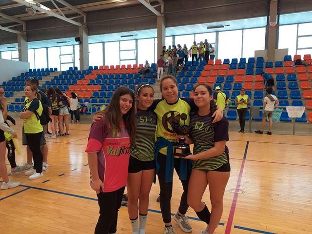 Tres laguneras, en el en el Campeonato de España infantil de Balonmano