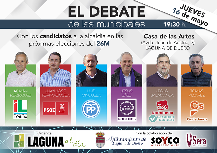 Laguna al Día vuelve a organizar 'El Debate' de las municipales