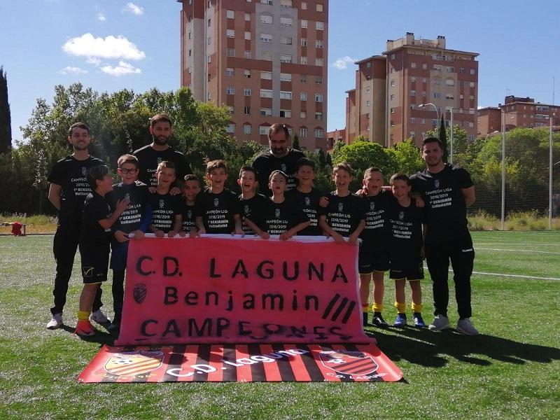 El C.D. Laguna accede a la fase regional tras ganar la liga en primera provincial benjamín