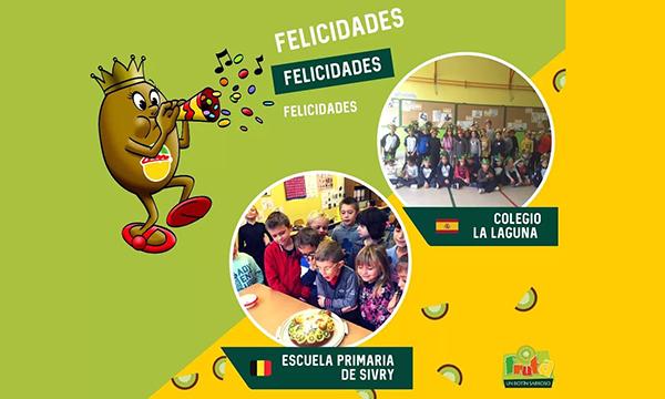 """El CEIP La Laguna recibe el premio """"Fruta, un botín sabroso"""""""