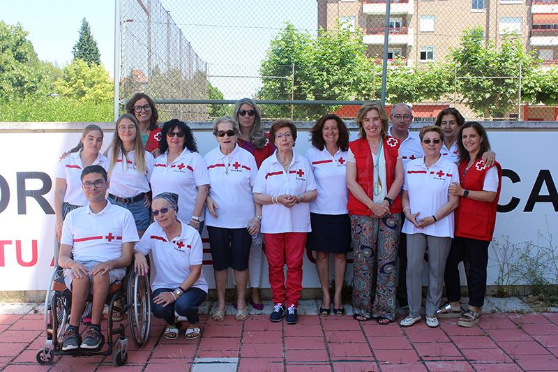Cruz Roja en Laguna de Duero recibe a la nueva presidenta provincial