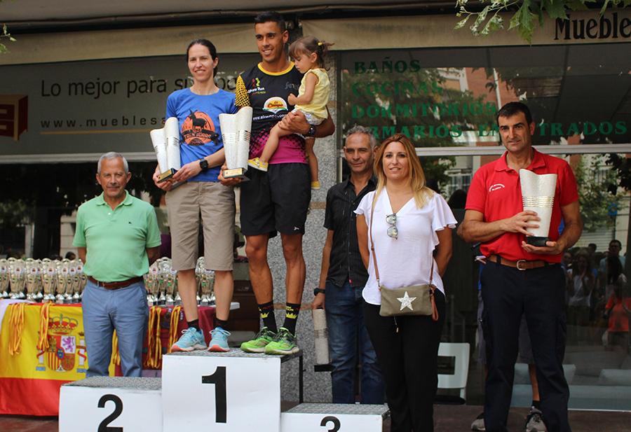Rubén Sánchez y Alicia Diago, ganadores de la Carrera Pedestre Popular