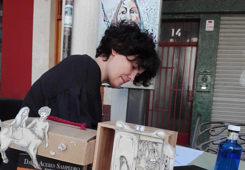 La ilustradora local, Sonsoles Yáñez, inaugura las XIX Jornadas del libro de Sebúlcor