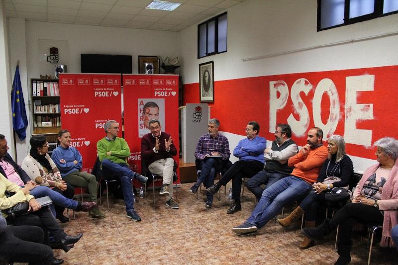 """Escarda, Izquierdo y Barba defienden en Laguna que el PSOE es """"la única opción de gobierno"""""""
