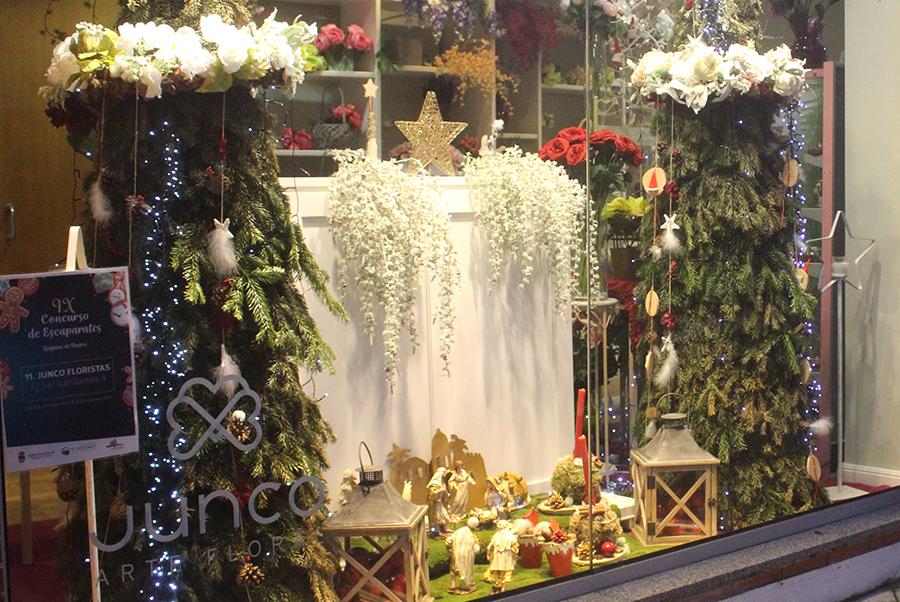 Junco Floristas, ganador del IX Concurso de Escaparates de Navidad