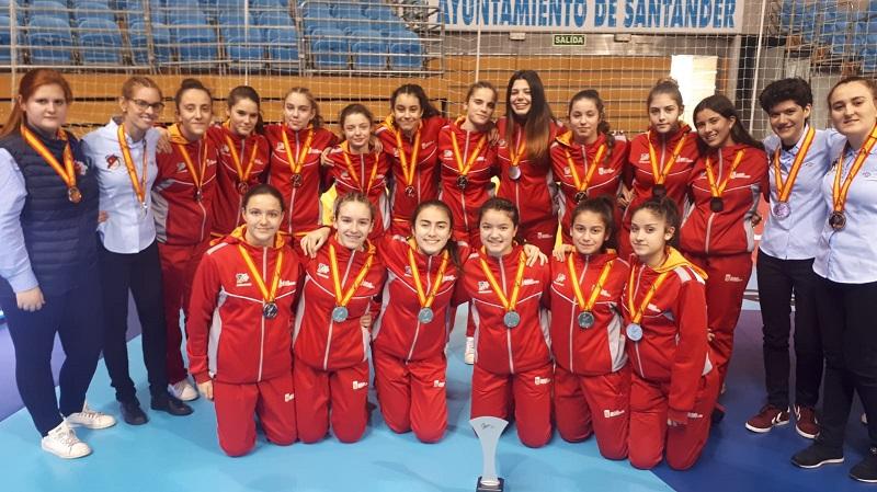 Jimena García y Noelia Paniagua, plata en la Copa de España de Balonmano Infantil