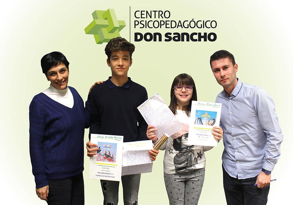 Andrea Marcos y Borja Altable, ganadores del I Concurso de Escritura del Centro Psicopedagógico Don Sancho