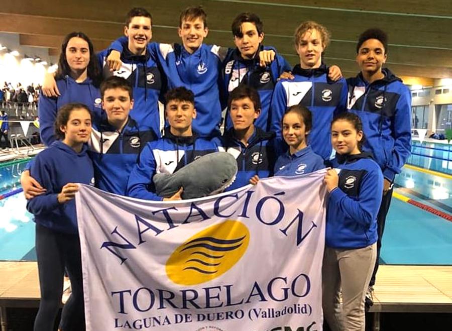 Brillante actuación del C.D. Torrelago Wellness en el campeonato regional infantil de natación