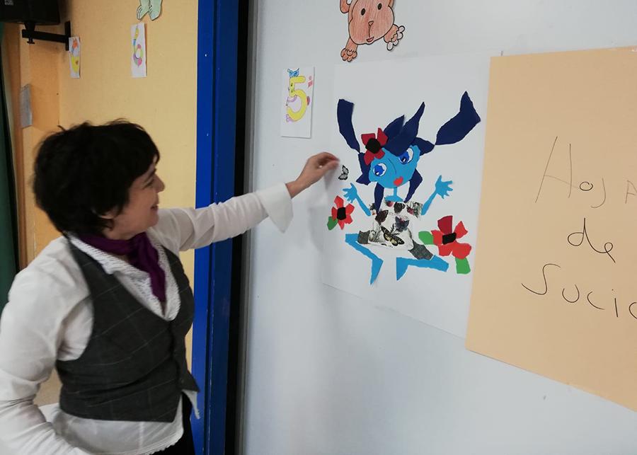 La ilustradora Violeta Monreal visita el CEIP Ntra. Sra. del Villar