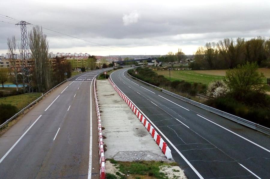 El tráfico entre Laguna y Valladolid cae en torno a un 65%
