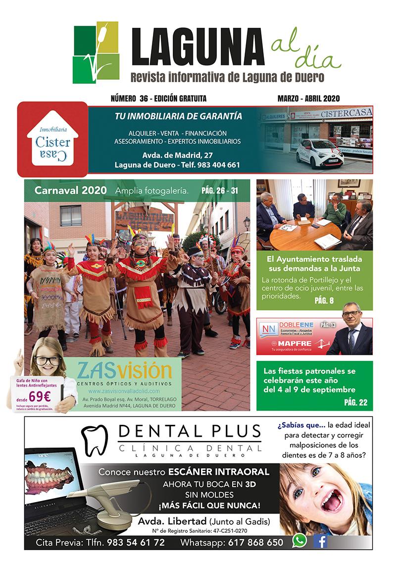 Portada de la trigésimo sexta edición de la revista Laguna al Día