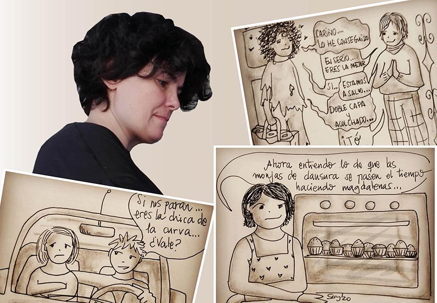La ilustradora Sonsoles Yáñez, dispuesta a combatir el coronavirus a golpe de humor