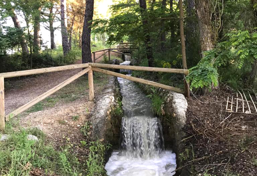 La acequia, uno de los principales respiros naturales de Laguna durante la desescalada