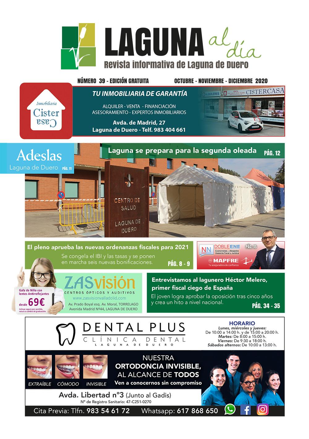 Portada de la trigésimo novena edición de la revista Laguna al Día
