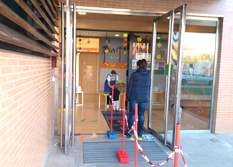 La firmeza en los protocolos, principal muro de contención contra el Covid-19 en las Escuelas Municipales Infantiles