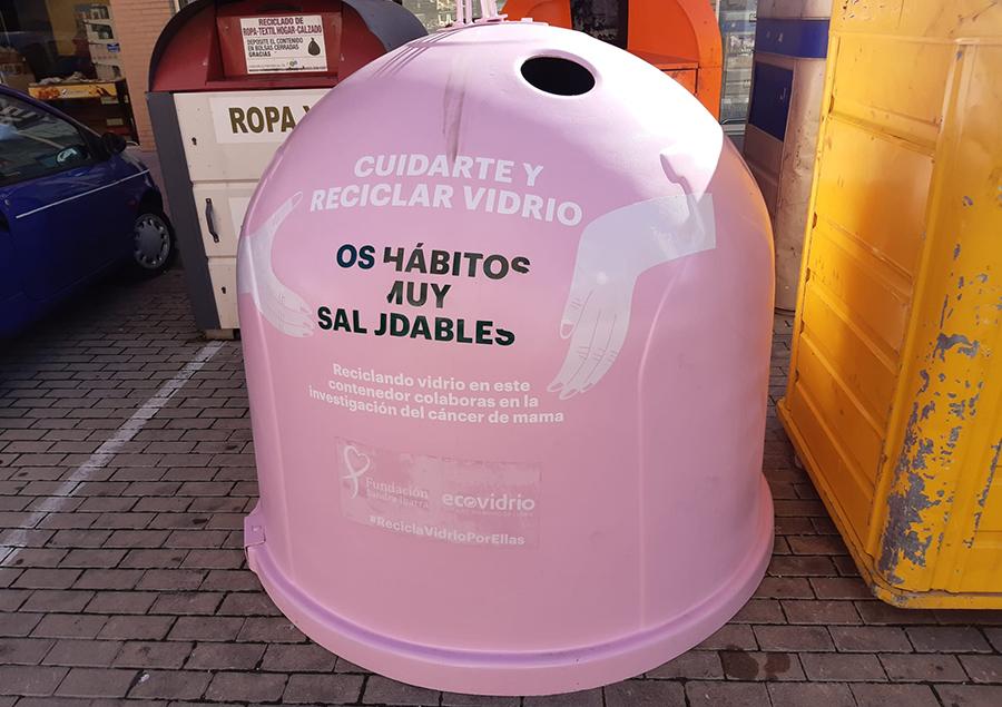 Laguna contará con dos contenedores rosas dentro de la campaña 'Recicla Vidrio por ellas'