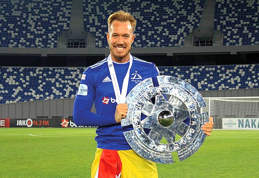 Víctor Mongil, un trotamundos del fútbol que encara su tercera temporada en el Dinamo de Tbilisi