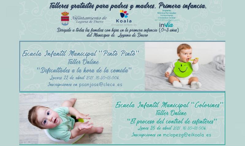 Abierto el plazo de inscripción para los talleres de padres en las escuelas municipales Pinto Pinto y Colorines
