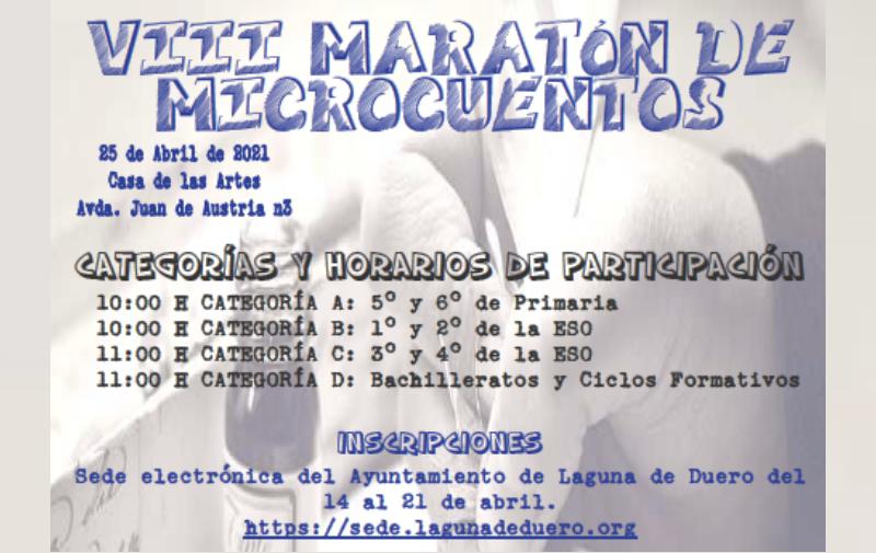 El Ayuntamiento organiza el VIII Maratón de Microcuentos dirigido a jóvenes a partir de 5º de Primaria