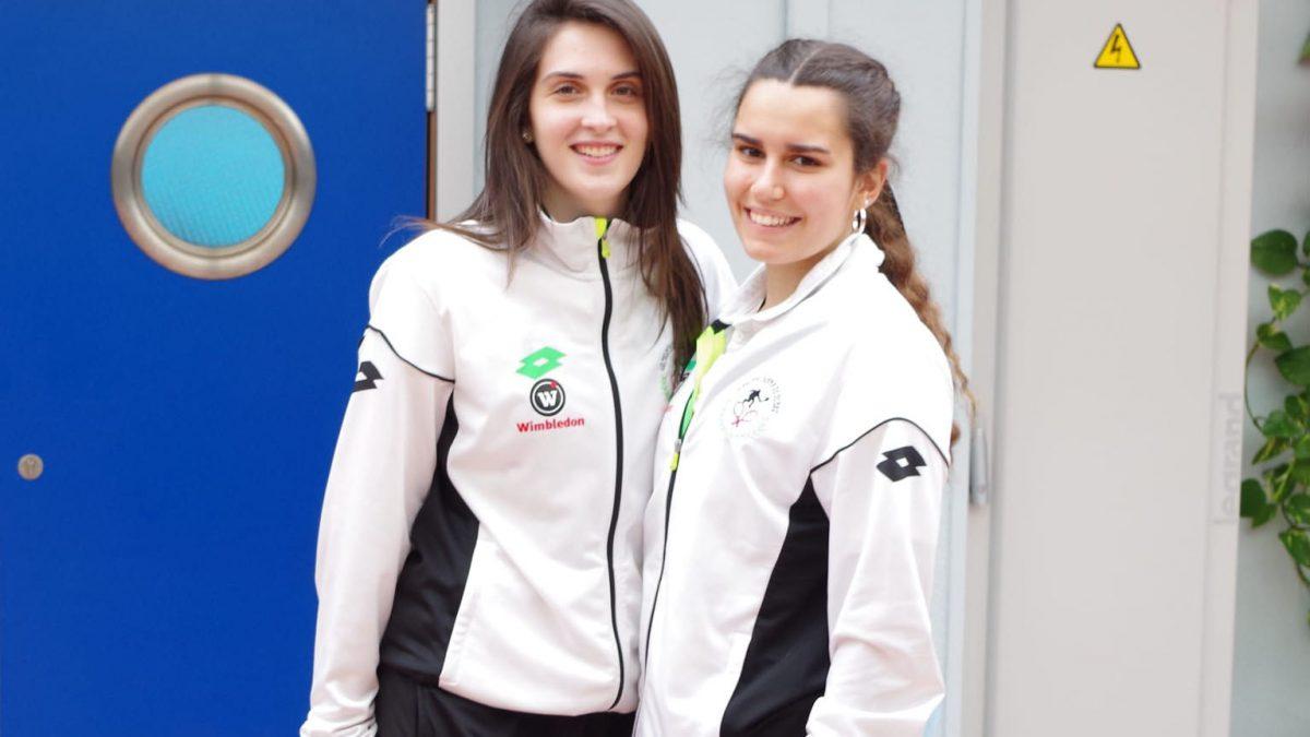 Lucía Moro e Iris Merino, subcampeonas regionales absolutas de frontenis