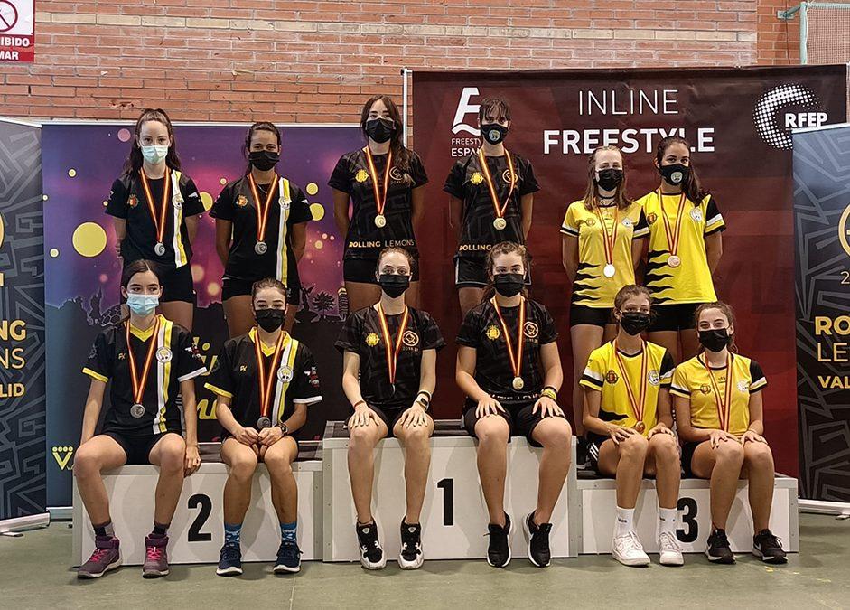 Ángela Prada y Verónica Martín obtienen medalla en el Campeonato de España de Inline Freestyle