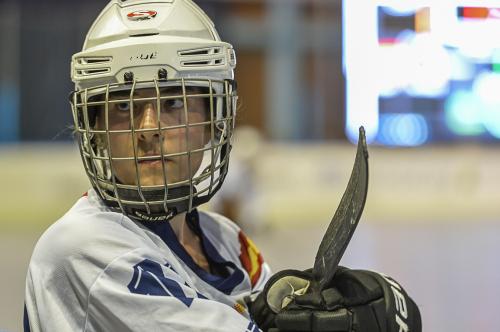 Alejandra Vallejo, subcampeona del mundo sénior de hockey línea