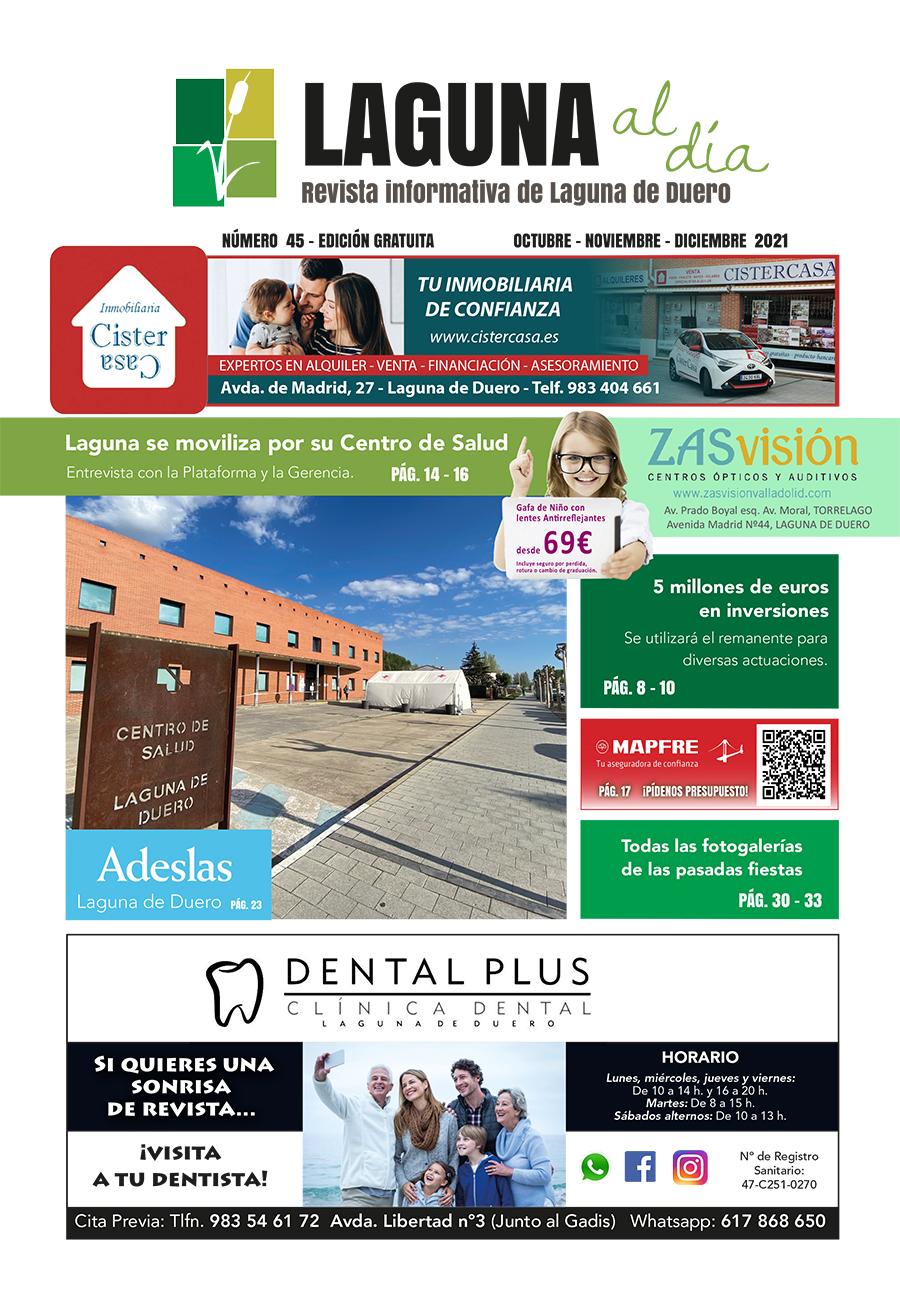 Portada de la cuadragésimo cuarta edición de la revista Laguna al Día